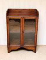Small Proportioned Oak Glazed Bookcase (6 of 10)