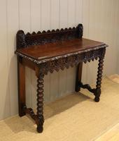 Carved Dark Oak Hall Table (3 of 9)