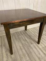 Arts and Crafts Copper Top Dining Table (2 of 4)