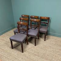 Superb Quality William IV Set of Six Mahogany Antique Dining Chairs (4 of 9)