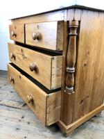 Antique Pine & Marble Chest of Drawers (14 of 15)