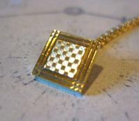 Antique Pocket Watch Chain 1930s Art Deco 12ct Gold Plated With Button Hole Fob (6 of 8)