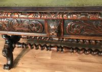 Victorian Carved Oak Desk Library Table (14 of 25)
