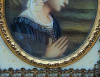 Fabulous early 1900s Italian Miniature Oil Portrait Painting - Stunning Frame!' (6 of 11)