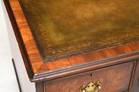 Antique Burr Walnut  Leather Top Desk (13 of 13)