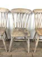 Set of Four Antique Farmhouse Kitchen Chairs (14 of 15)