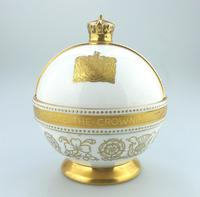 John Wadsworth : Limited Edition 1/600 Minton Orb Commemorate the Crowning of Qeii 1953 (2 of 9)