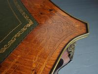 Antique Victorian Inlaid Kingwood Writing Table (13 of 14)