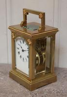 French Gilt Brass Carriage Clock (10 of 12)