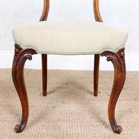 4 Walnut Balloon Dining Chairs 19th Century (4 of 12)