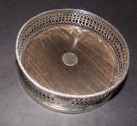 Solid Silver Wine Coaster 1841 (3 of 5)