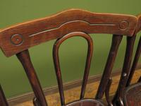Four Antique Polish Thonet Style Bentwood Bistro Chairs with Pressed Seats (5 of 22)