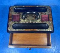 Victorian Brassbound Walnut Inkstand (10 of 16)