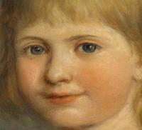 Emma Irlam Briggs- Oil on Canvas - Portrait of a Girl 1896 (3 of 3)