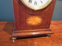 Antique Sheraton Inlaid Dent of London Mantel Clock (3 of 7)