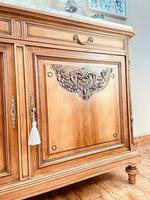 French Antique Sideboard / Walnut Buffet / Marble Cupboard (10 of 10)