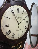 Rare Antique Drop Dial Wall Clock 8 Day Single Fusee Movement Signed J H Harvey Penzance (11 of 12)