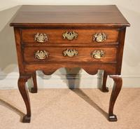 George III Lowboy on Square Cabriole Legs