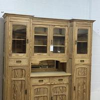 Very large antique dresser with glazed display cupboards (7 of 9)