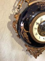 French Antique 19th Century Boulangerie / Bakers Hanging Wall Clock Limoges (4 of 7)