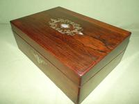 Inlaid Rosewood Writing Box - Extended Office Section c.1870 (15 of 16)