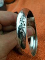 Art Nouveau Hallmarked 925 Sterling Silver Bangle Cuff Bracelet Salerno, Italy (7 of 9)
