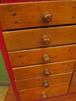 Antique Miniature Scratch Built Bank of Drawers, made from Jamaican Cigar Boxes (3 of 19)