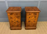 Pair of Burr Walnut Bedside Chest by Heal and Son (7 of 16)