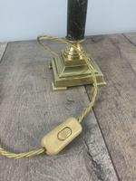 French Brass And Marble Small Table Lamp, Rewired (9 of 9)