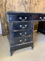 19th Century Ebonised Desk with Brass Swan Neck Handles (6 of 6)