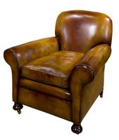 Pair of Leather Club Chairs c.1890 (2 of 11)
