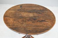 Antique Rustic Oak Tripod Table (5 of 12)