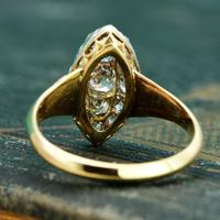 The Antique Late Victorian Marquise Fifteen Diamond Ring (2 of 5)