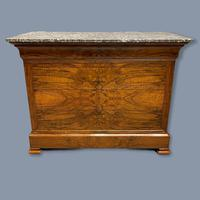 Figured Walnut Marble Top Commode (2 of 9)