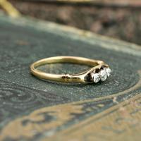 The Antique Three Diamond Bezel Set Ring (6 of 6)