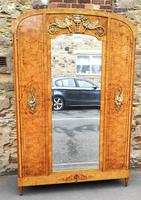 French Art Deco Burr Ash, Marquetry & Gilt Metal Mounted Wardrobe c.1910 (2 of 18)