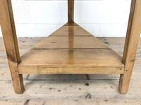 Antique Pine Tripod Side Table (m-2269) (3 of 8)