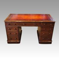 Victorian Oak Pedestal Desk (8 of 11)
