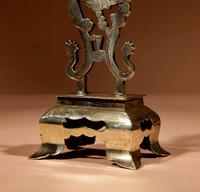 Decorative Chinese Brass Dragon Candlestick c.1900 (3 of 8)