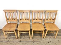 Set of Four Vintage Beech Chapel Chairs (2 of 16)