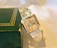 "Vintage Sterling Silver Buckle Bangle 1976 Original Box 7"" Length 24.4 Grams (5 of 12)"