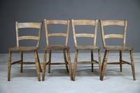 4 Rustic Elm Country Kitchen Chairs (3 of 14)