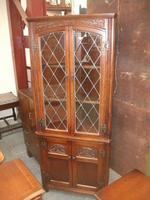 Lead Glazed Old Charm Corner Cabinet