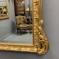 Large French gilt overmantle mirror 185cm (8 of 8)
