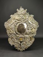 Large Early 18th Century Silvered Repoussé Wall Sconce (4 of 5)