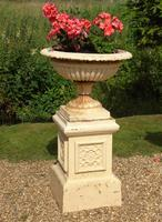 Good Pair of Victorian Campana Garden Urns on Stands (4 of 7)
