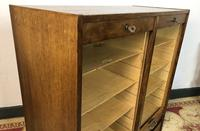 Vintage French Mid Century Filing Cabinet Tambour Roller (9 of 11)