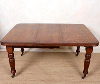 Oak Dining Table 6 Seater Victorian Wild Golden Oak 19th Century Solid (11 of 16)