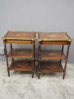 Pair of Victorian Marquetry Burr Walnut Etageres (11 of 12)