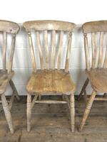 Set of Four Antique Farmhouse Kitchen Chairs (10 of 15)